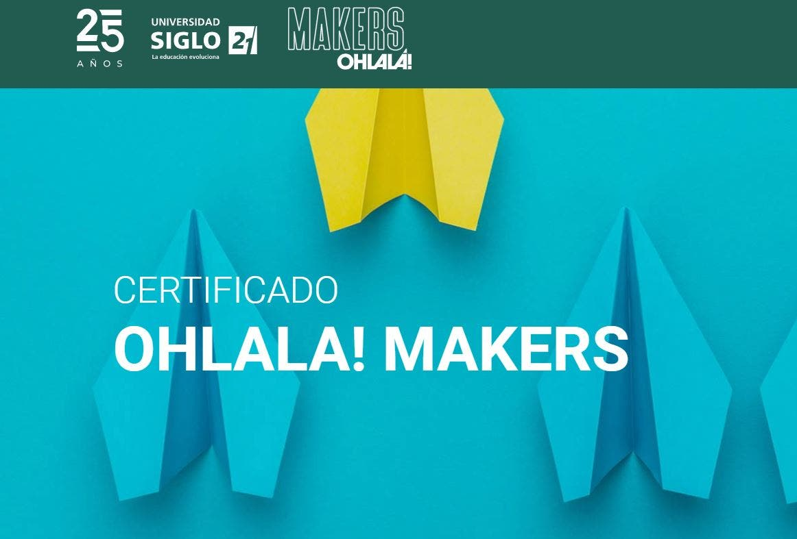 Certificado OHLALÁ! Makers