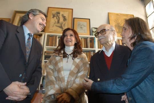 La presidenta Cristina Fernández de Kirchner lo visitó en su casa cuando era senadora. Foto: Archivo