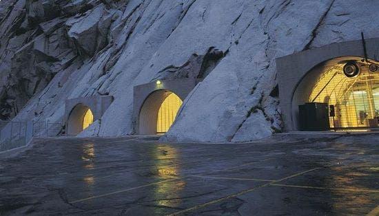 Granite Mountain. Little Cottonwood. Utah (EE UU)En los túneles excavados en la roca de esta montaña se guardan los archivos de la Iglesia de Jesucristo de los Santos de los Últimos Días, también conocidos como mormones