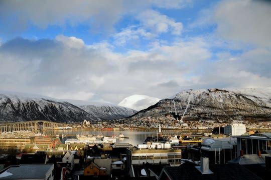 Postal de la bahía de la Tromsø. Foto: visitNorway