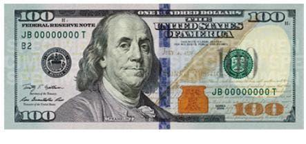 Los nuevos billetes de 100 dólares