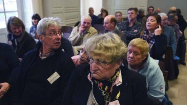 Algunas de las víctimas en el juzgado francés