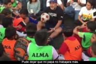 Maradona, en Nicaragua: una charla que llegó al corazón de un grupo de niños