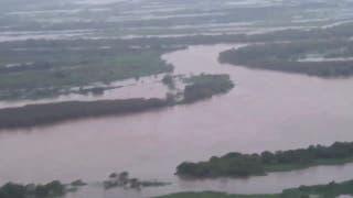 Recorriendo las zonas afectadas por las inundaciones