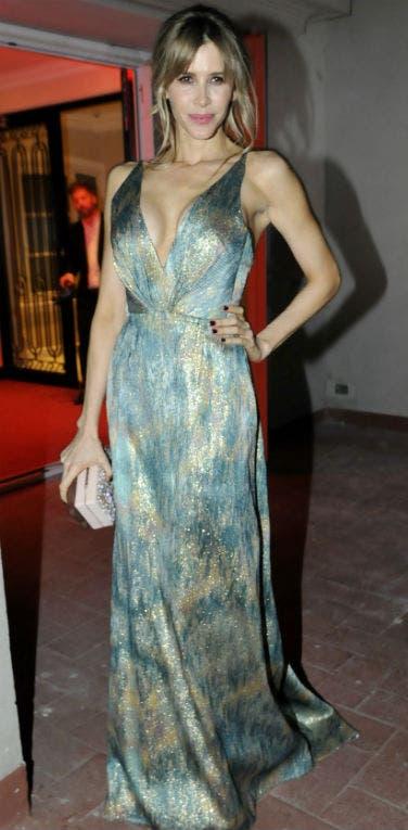 Guillermina Valdes causó sensación con un vestido escotadísimo de Gabriel Lage. Foto: /Gerardo Viercovich