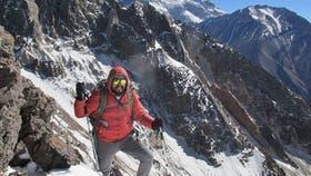 Vicente Gamboa, en el Cerro Tolosa