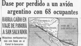 En la tapa de La Nación, la noticia de la desaparición del TC-48, con 69 pasajeros argentinos, en noviembre de 1965