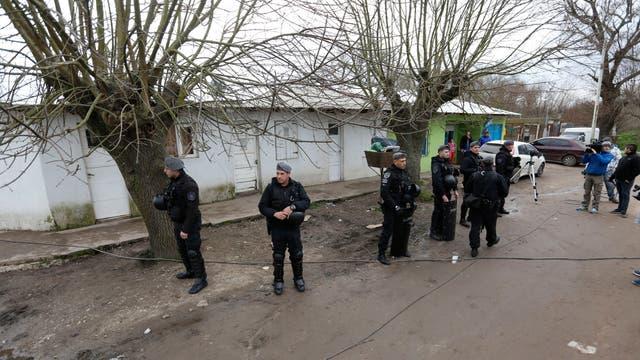 La policía controla el lugar donde fue detenido