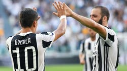 Juventus goleó a Cagliari con los tantos de Paulo Dybala y Gonzalo Higuaín