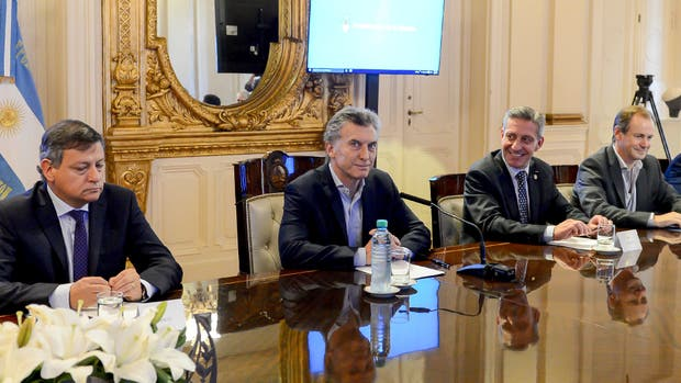 Mauricio Macri, durante la reunión con los gobernadores