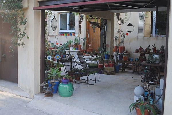 La entrada, el garage de la casa. Foto: Cecilia Wall