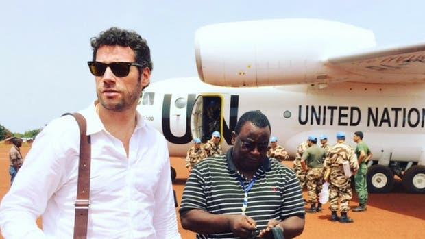 Bautista durante una visita a Bria en Republica Centroafricana para diseñar programas de consolidación de la paz (2016)