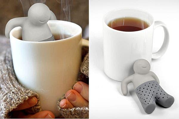Un infusor de silicona que se relaja en tu taza mientras tomás el té. Foto: blessthisstuff.com