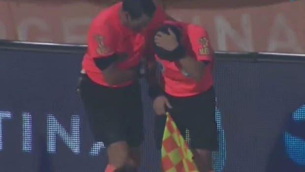 La agresión a Belatti en el final del partido