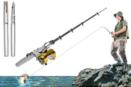 Bolígrafo caña de pescar: cuidado con lo que puede capturar en la oficina. Foto: http://www.yoquierounodeesos.com