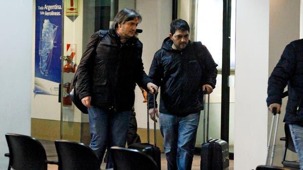 Máximo Kirchner, a su llegada a Buenos Aires desde Santa Cruz