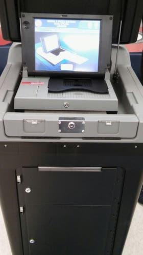 La máquina que se usa para escanear la boleta