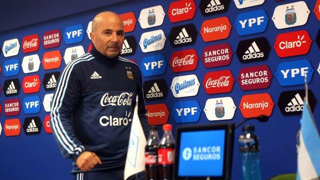 Jorge Sampaoli, DT de la selección argentina