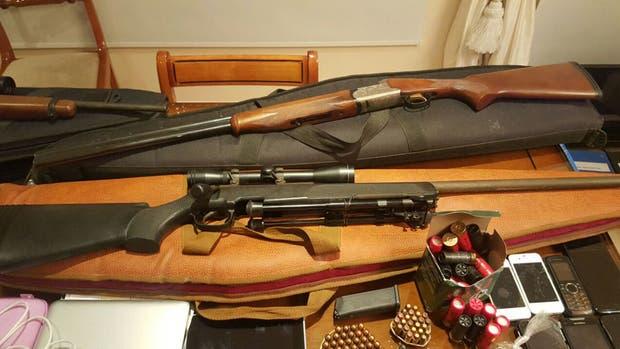 Alguna de las armas secuestradas en los allanamientos
