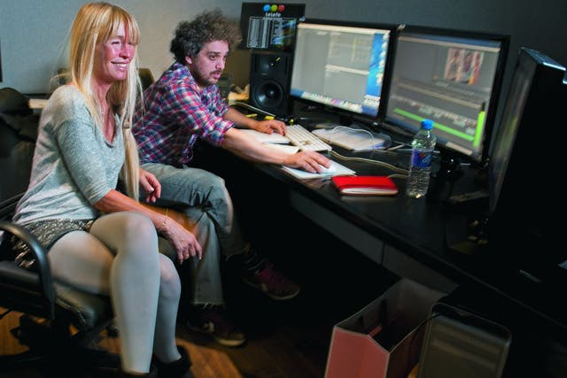 Con el editor Paulo Mongiello
