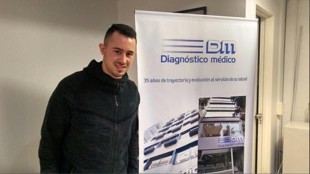 Rodrigo Amaral tras cumplir con la revisión médica