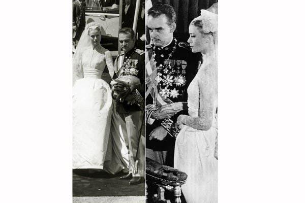 Helen Rose -principal diseñadora de vestuario para MGM- fue la responsable del traje que enmarcó a Grace Kelly con delicada sobriedad el día que se casó con el príncipe Rainiero, en 1956. Más de 30 personas trabajaron durante 6 semanas para que se vea impecable. Foto: In style