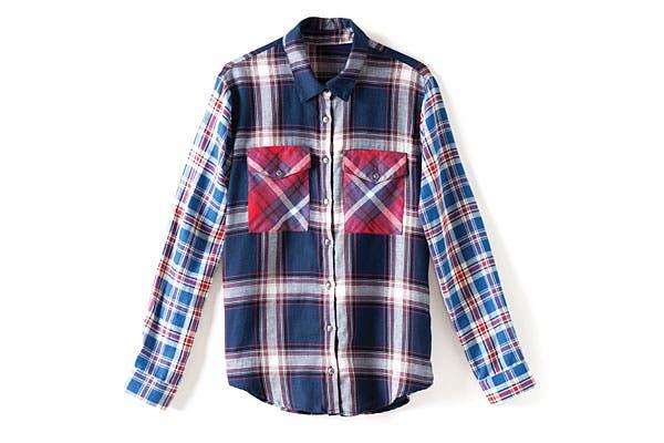 La camisa escocesa es el nuevo básico (Uma). Foto: Erika Rojas. Coordinación y producción de producto: Josefina Rivero