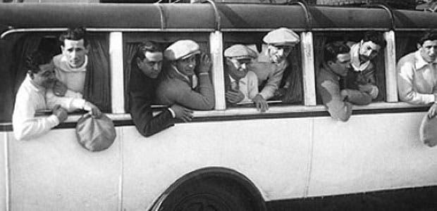 La primera concentración argentina para el Mundial de 1930 en la Barra de Santa Lucía