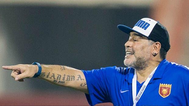 Diego Maradona sumó otra alegría con su equipo en Emiratos Árabes Unidos