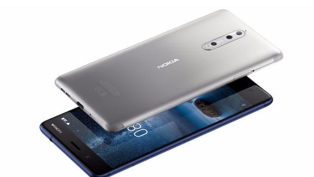 El Nokia 8 cuenta con una pantalla de 5,3 pulgadas, procesador Qualcomm Snapdragon 835, 4 GB de RAM y 64 GB de almacenamiento