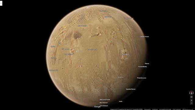 El Planeta Rojo también está en Google Maps