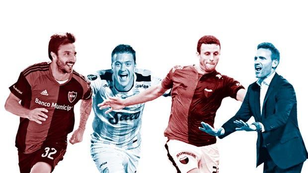 Scocco (Newell''s), González (Atlético Tucumán), Ledesma (Colón) y Bernardi, DT de Godoy Cruz