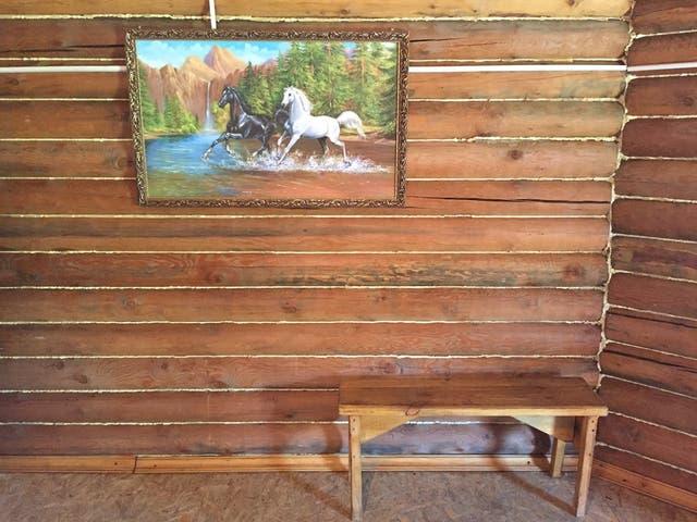 Un rincón del yurt del chamán Andrey Obsholov