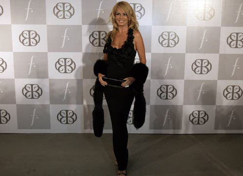 Cecilia Bolocco presentó en Santiago de Chile su última colección de ropa femenina. Foto: AFP
