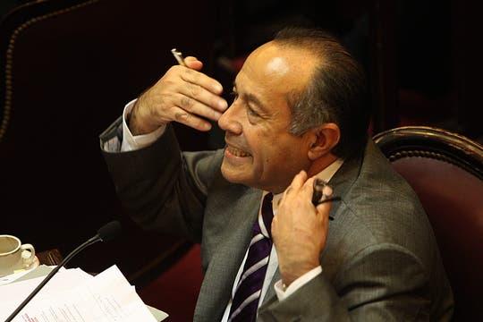 Enérgica intervención del Senador Rordriguez Saá. Foto: LA NACION / Hernán Zenteno