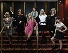 María Leal, Cecilia Dopazo, Hilda Bernard, Silvia Pérez, Norma Pons, Mónica Villa, Emilia Mazer y Violeta Urtizberea