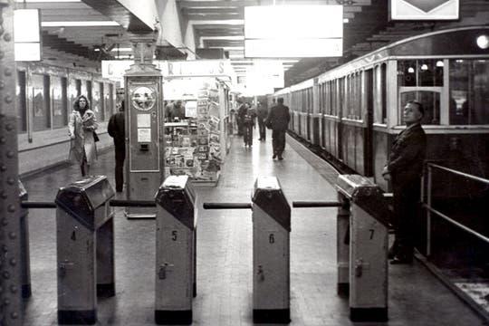 Estación Plaza de Mayo de la Línea A; octubre de 1978.. Foto: Archivo