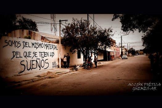 Acción Poética Güemes, Salta. Foto: Facebook