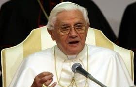 Benedicto XVI antes de abandonar el cargo como papa
