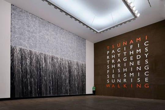 Instalación para el Aomori Museo de Arte Japón, Recuerdo del Tsunami y Conmemoración del Tsunami. 2013. Foto: Cortesía Richard Long