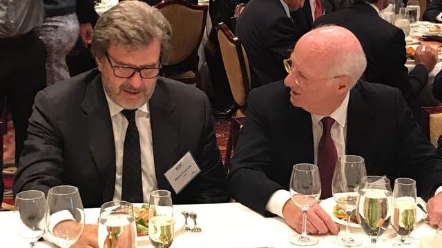 Almuerzo de Macri con 200 invitados en un hotel de Houston: mensaje de cambio para atraer inversiones. Foto: LA NACION