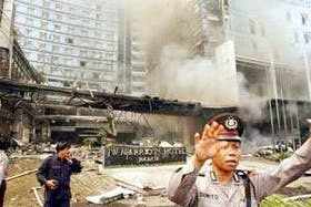 La explosión causó daños en el restaurante y en parte de la recepción del hotel