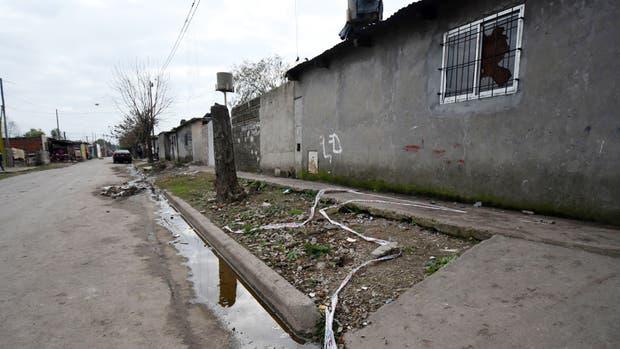 El lugar del hecho en el barrio Las Flores, al sur de Rosario