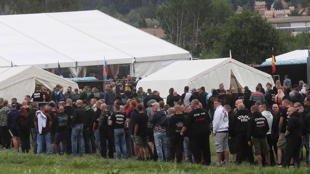 Participantes en el festival de ultraderecha