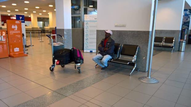 Fremont Herns en el aeropuerto de Rosario