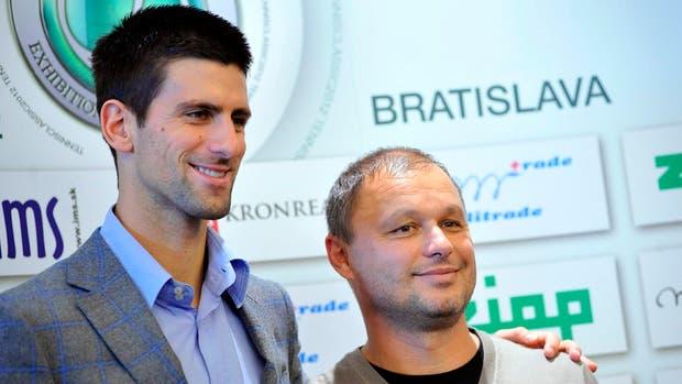 Una foto de Djokovic con su coach Marian Vajda, en noviembre de 2012