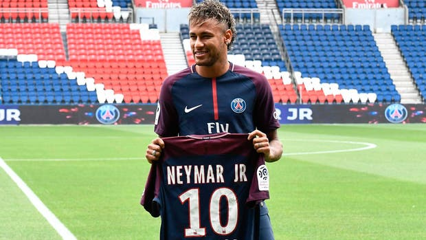 Neymar utilizará la número 10 que le dejó Javier Pastore