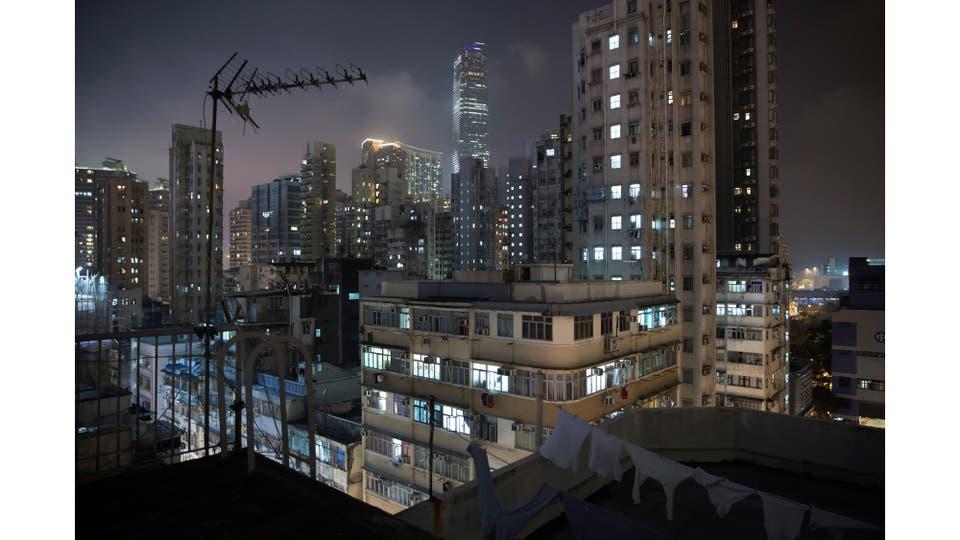 Una visión general de edificios en el distrito de Yau Tsim Mong, un lugar popular para las unidades subdivididas