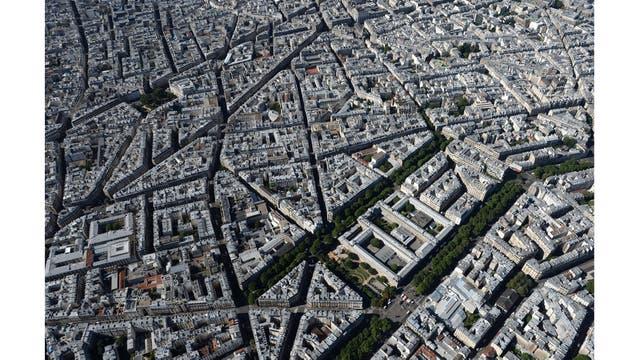 Vista aérea general sobre París