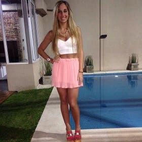 Macarena Mendizabal, dos meses antes del accidente